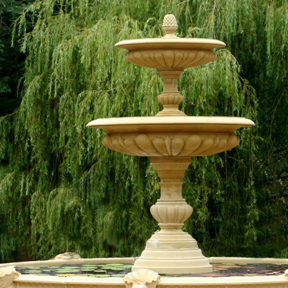 Medium Two Tier Vermeer Garden Fountain