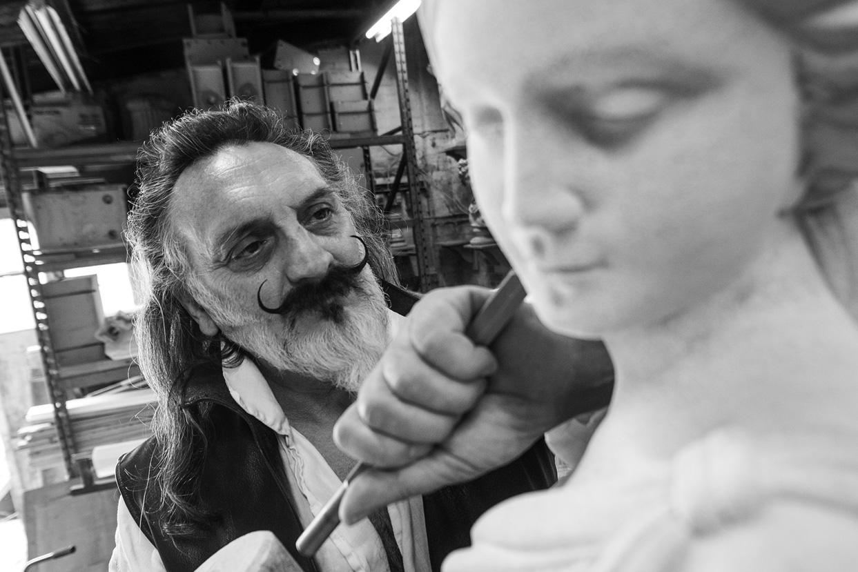 david sharp studio classical statue sculpure