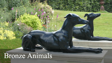 Bronze garden animals