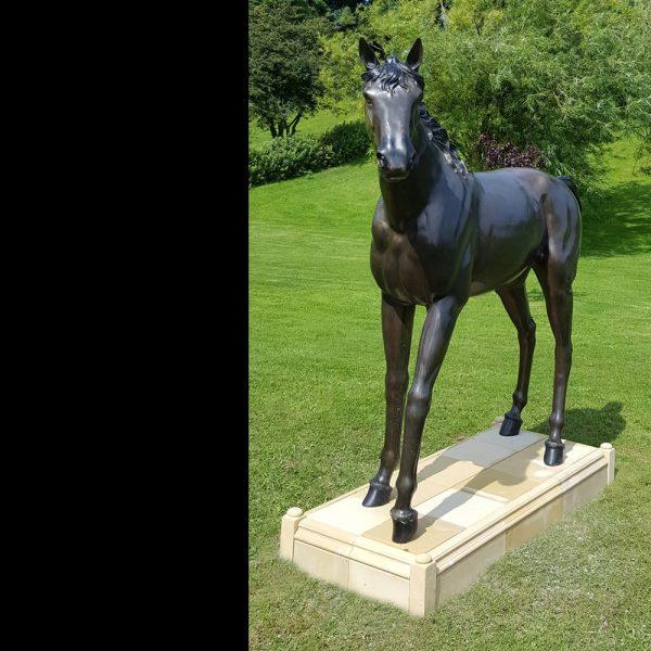 Bronze Horse Garden Statue, Horse Garden Statues Uk