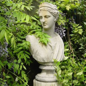 diana stone garden bust by the David Sharp Studio