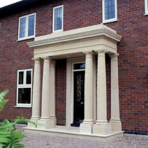 Stone Portico Stone Balustrade Exclusively by The David Sharp Studio
