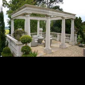 Stone Pergola Exclusively by The David Sharp Studio